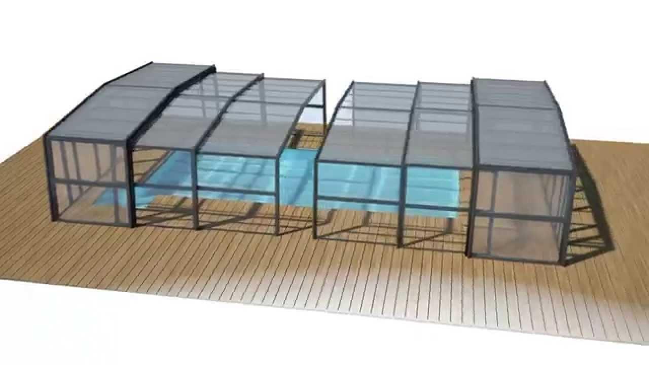 abri de piscine haut abf 3d azenco youtube. Black Bedroom Furniture Sets. Home Design Ideas
