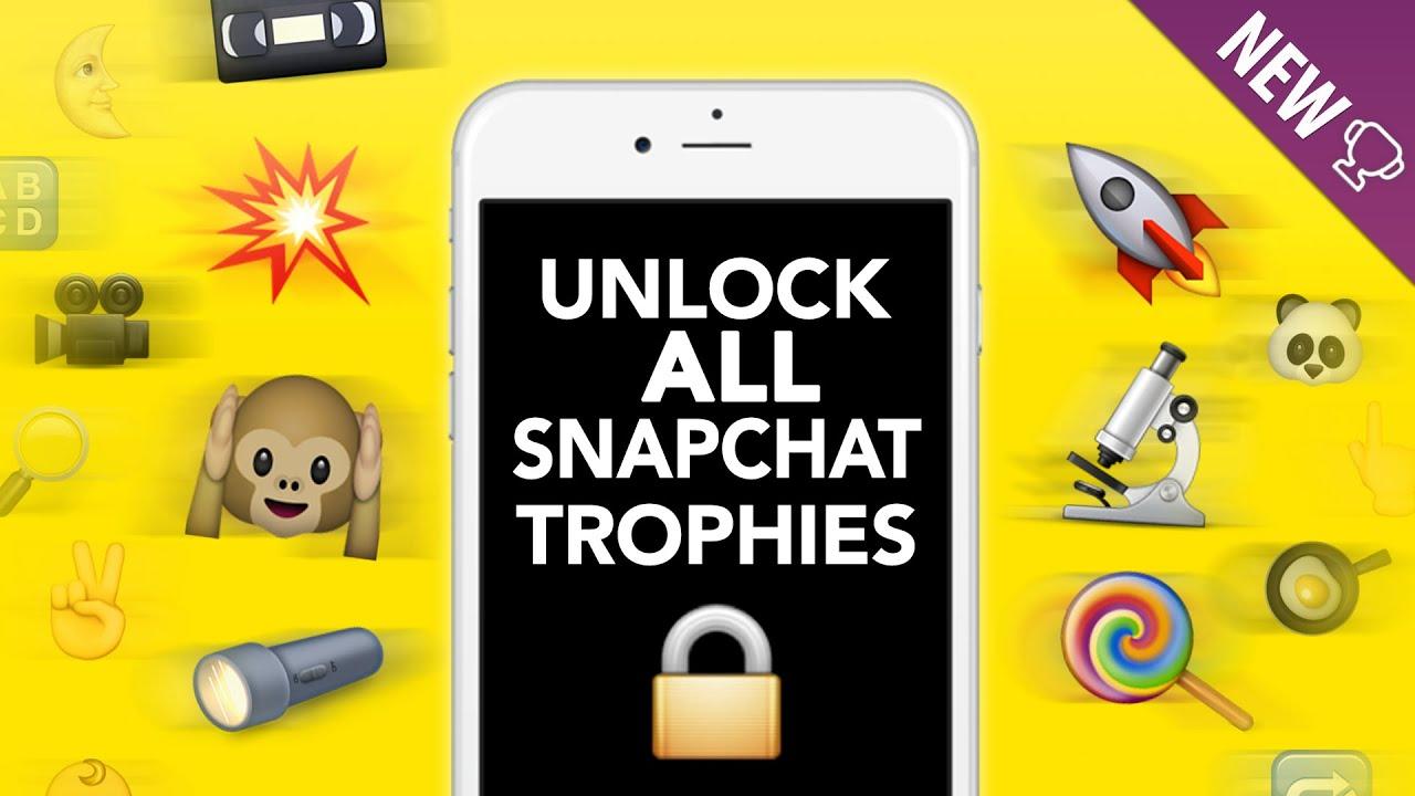 locked snapchat trophies