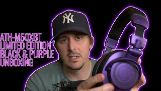Audio-Technica ATH-M50XBT Limited Edition Black & Purple UNBOXING!