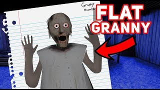 Flat Granny EXPLORES HER NEW HOUSE!!!  | Granny The Mobile Horror Game (Fan Game/ Knock Off)