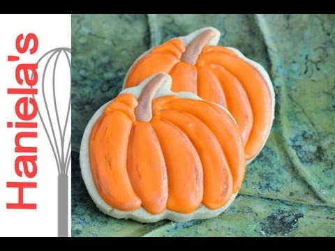 How To Decorate Pretty Pumpkin Cookies Painting On Cookies