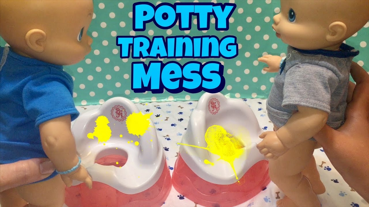 Baby Alive Boys Use The Potty Standing Up Makes A Big Mess Youtube