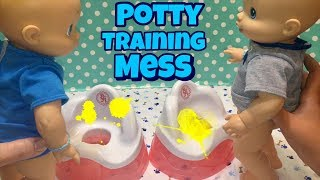 Baby Alive boys USE THE POTTY STANDING UP makes a BIG MESS