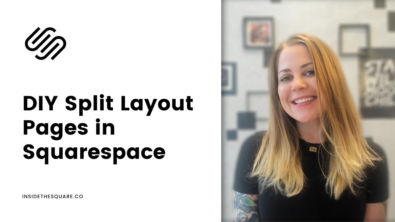 Squarespace Split Screen Layout Tutorial // How To Create A Split Page Layout in Squarespace 7.1
