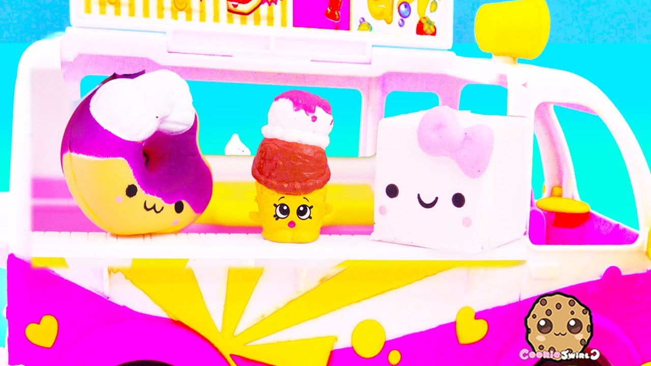 Squishy Marshmallow Sells Ice Cream - Cookie Swirl C Toy Video - YouTube