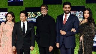 Amitabh Bachchan, Abhishek & Aishwarya Rai attends Sachin's film Premiere