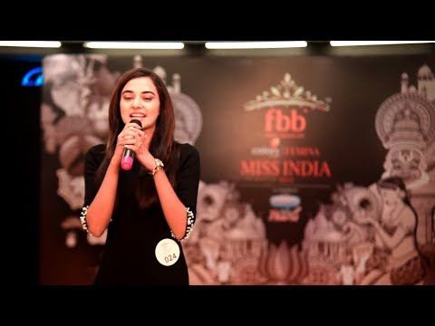 Stefy Patel's introduction at Miss India 2018 Jharkhand Audi