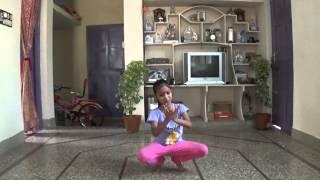 Aashritha practicing kuchipudi brahmanjali