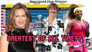 Who's the GOAT of Women's Tennis? Margaret Court,Serena Williams or Steffi Graf ? Grand Slam Winners