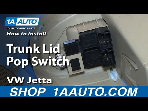 How to Replace Trunk Lid Switch 99-06 Volkswagen Jetta