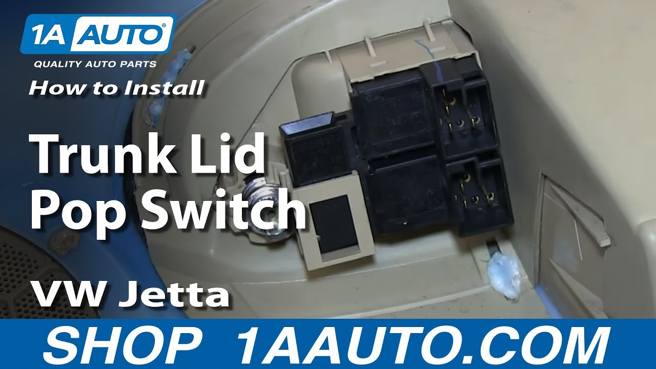 Vw Jetta Truck >> How to Replace Trunk Lid Switch 99-06 Volkswagen Jetta ...