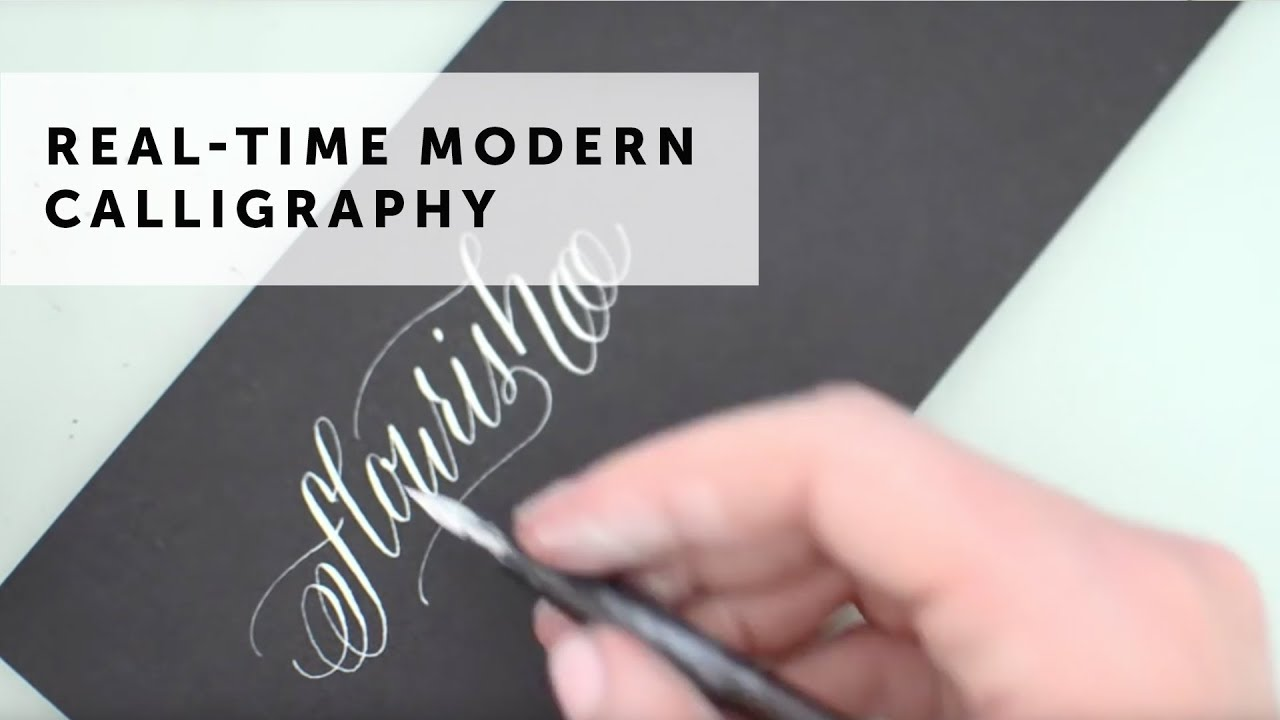 Flourish modern calligraphy youtube Calligraphy youtube