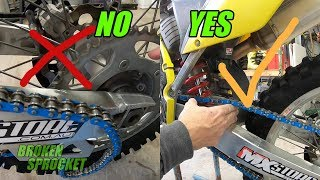 Dirt bike chain adjustment beginners guide.