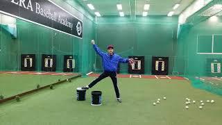 뉴에라 베이스볼 아카데미 투수 기본훈련