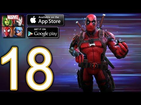 MARVEL Strike Force Heroes Android iOS Walkthrough - Part 18 - Deadpool Unlocked, Raid, Blitz