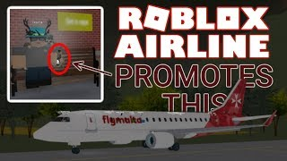 CRAZY ROBLOX AIRLINE PROMOTES THIS ON ROBLOX!
