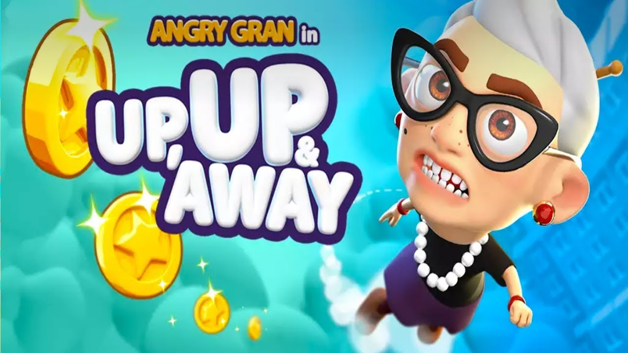 ApkMod1.Com Angry Gran Up Up and Away Jump v1.3.1 + (Unlimited Coins/Gems/Boost) download free Android Arcade Game