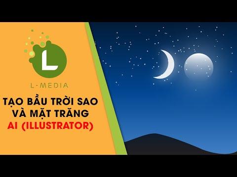 TẠO BẦU TRỜI SAO LUNG LINH VÀ MẶT TRĂNG TRONG AI (Illustrator)