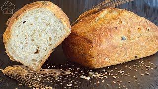 Mi pan sin amasado ! Con 5 semillas! Te encantara volver hacer pan 🍞