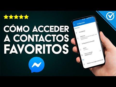 Cómo Activar la Sección de Contactos Favoritos en Facebook Messenger y Cómo Ocultarla paso a paso