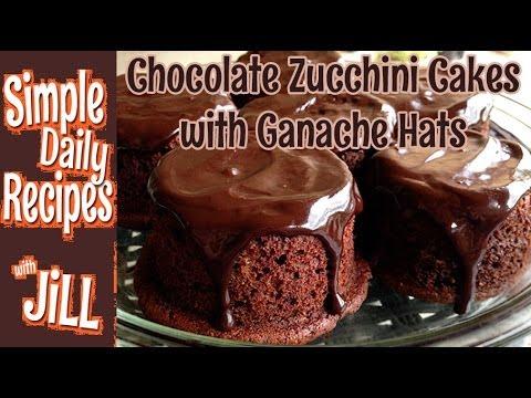 Chocolate Zucchini Cakes Decadently Vegan