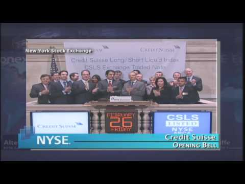 26 February 2010 Credit Suisse NYSE Euronext Opening Bell