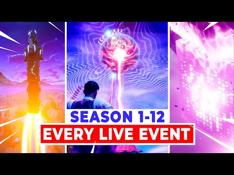 All FORTNITE LIVE-EVENTS (SEASON 1-12 *NEW* THE DEVICE EVENT)