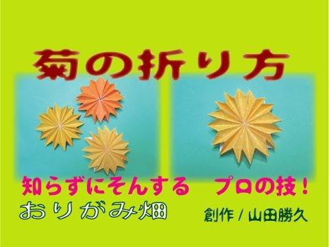 ハート 折り紙 折り紙 菊 折り方 : youtube.com