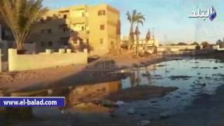 بالفيديو والصور.. حى النور بطور سيناء يغرق في 'الصرف الصحى'