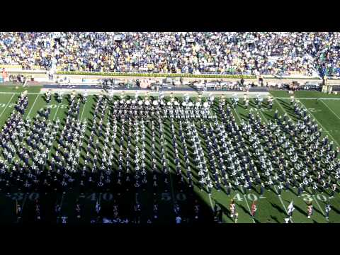 Notre Dame and Michigan State Bands Amazing Grace Halftime 9-17-11