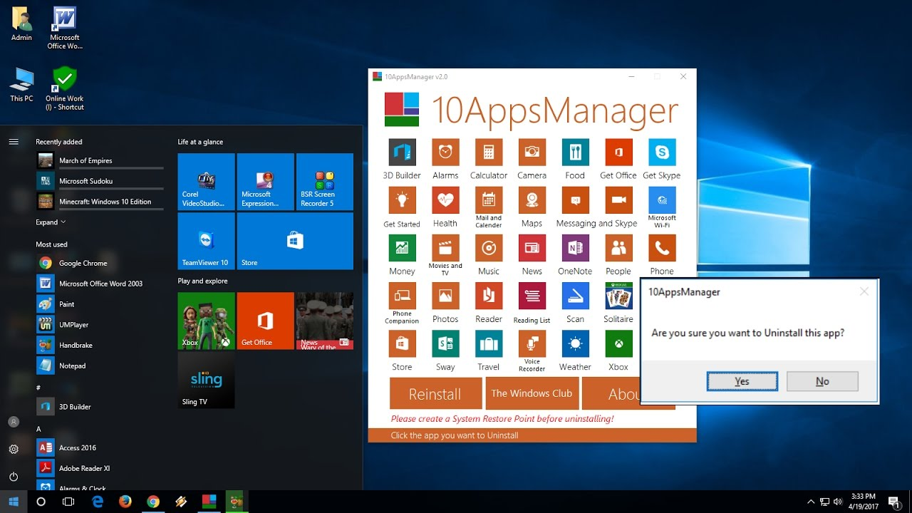 How to Uninstall Preinstalled Bloatware Apps & Software of Windows 10 (Easy)
