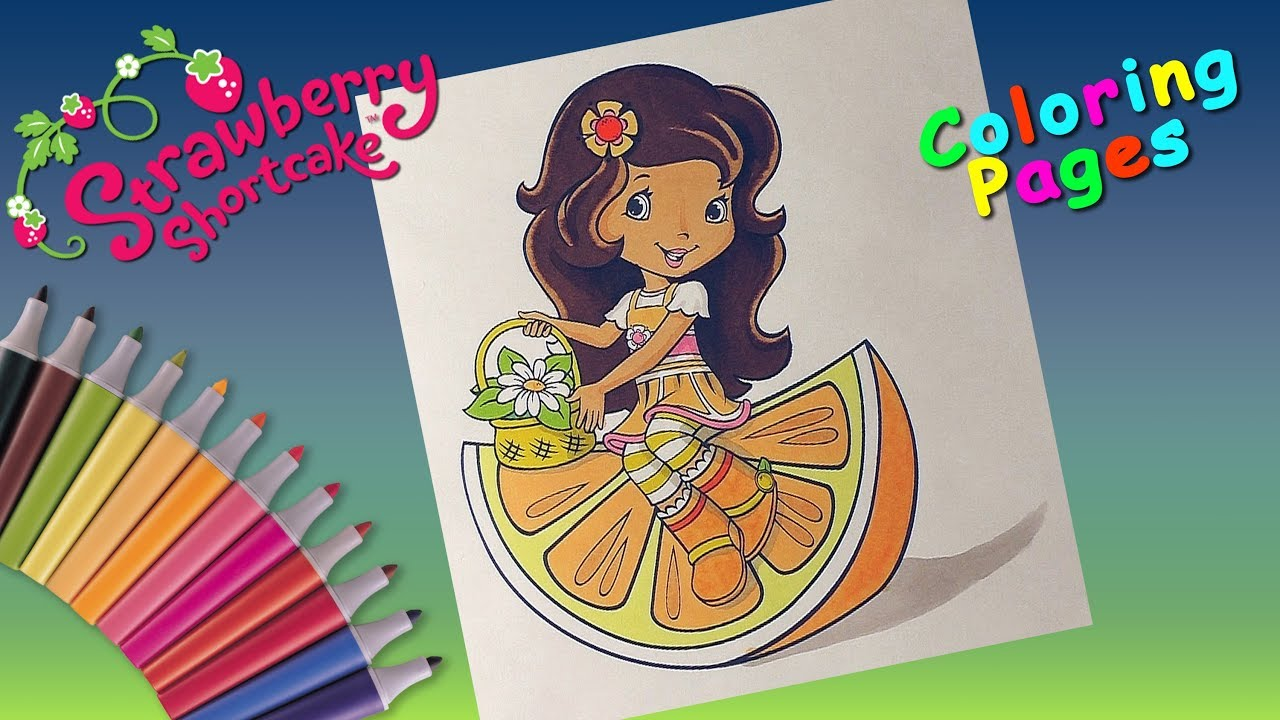 Coloring Orange Blossom Strawberry Shortcake Coloring pages for ...