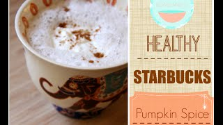 Healthy Starbucks Pumpkin Spice Lette! Fast + Easy! Thumbnail
