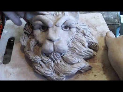 How To Sculpt A Lion's Head In Clay