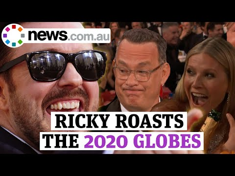 Ricky Gervais' best bits at the 2020 Golden Globes