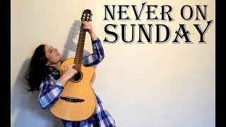 Never On Sunday Greek Traditional Guitar Cover With TAB Ta Paidia Tou Peiraia