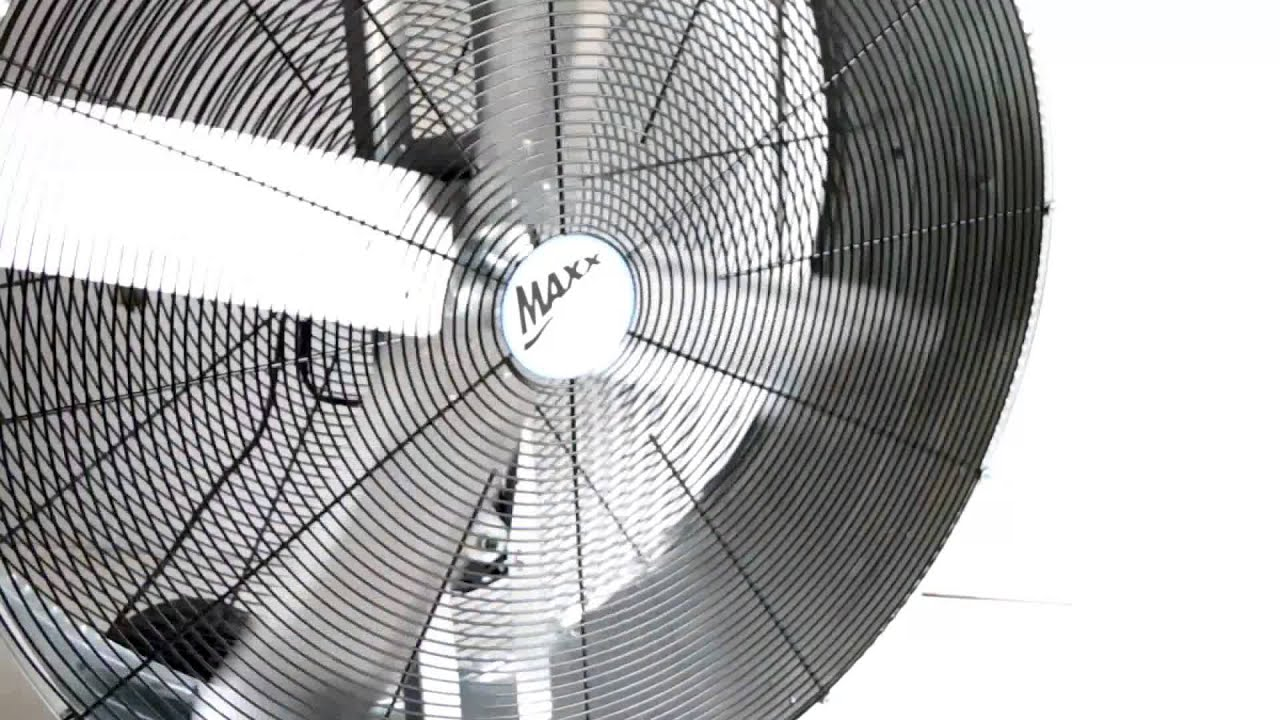 maxxair 42 inch belt drive drum fan [ 1280 x 720 Pixel ]