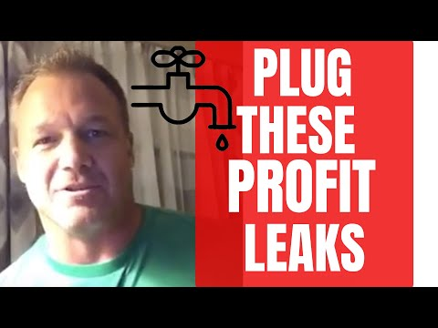 3 Profit leaks in your business and how to plug them