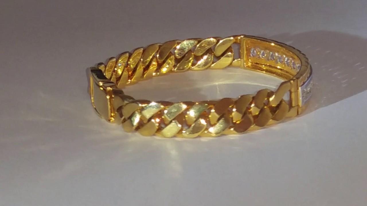 11 990 2 75ct 22k Gold Men S Bracelet Vvs1 F Colorless Diamonds