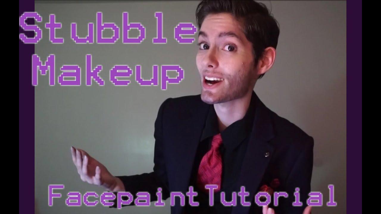 Stubble Makeup Facepaint Tutorial