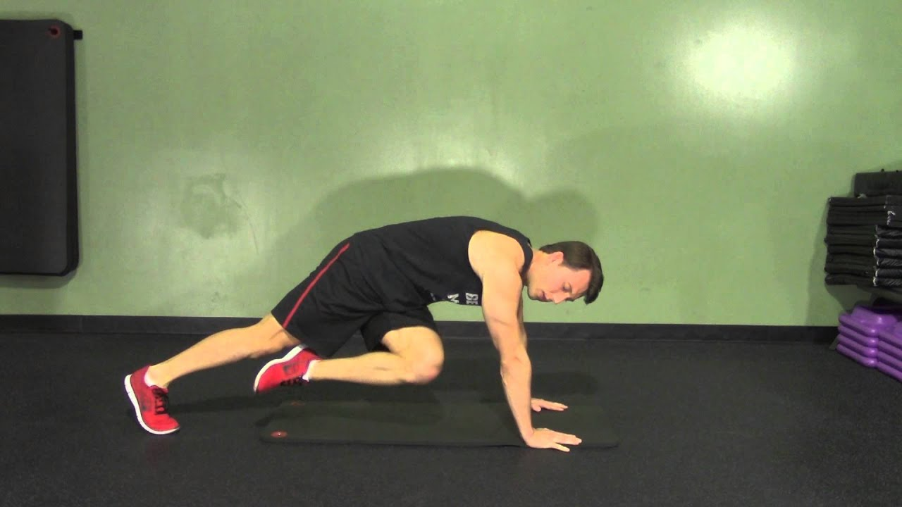 High Plank Knee Up and In - HASfit Abdominal Exercises - Ab Exercises - Abs  Exercise