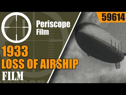 U.S. NAVY DIRIGIBLE  USS AKRON   MEMORIAL FILM AFTER 1933 LOSS OF AIRSHIP  59614