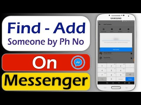 How To Add And Find Someone On Messenger By Phone Number