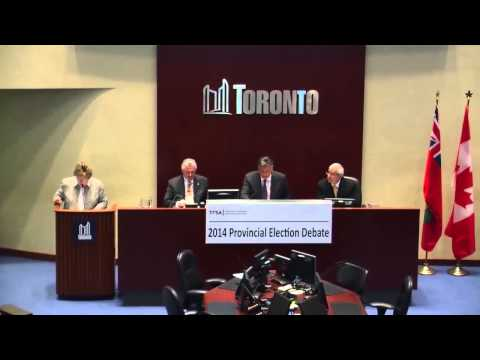 2014 Ontario Election Debate on Importance of Financial Services Sector