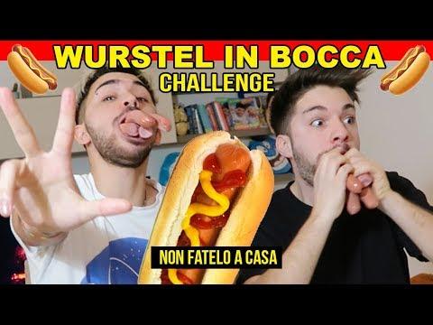 WURSTEL IN BOCCA CHALLENGE 🌭 NON FATELO A CASA!! | Matt & Bise