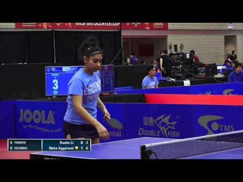 2016 NCTTA Nationals Coed Teams R16 - Neha Aggarwal (Columbia) vs Xuebo Li (Toronto)