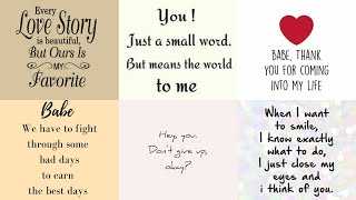 Beautiful Love Quotes for your Lover || Love quotes Whatsapp Dp images || Romantic Quotes