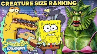 WEIRDEST Creatures On SpongeBob Ranked By Size! 🐛😱