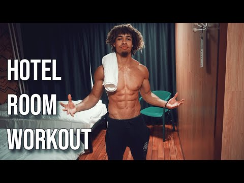 FULL BODY HOTEL ROOM WORKOUT NO WEIGHTS NEEDED!!