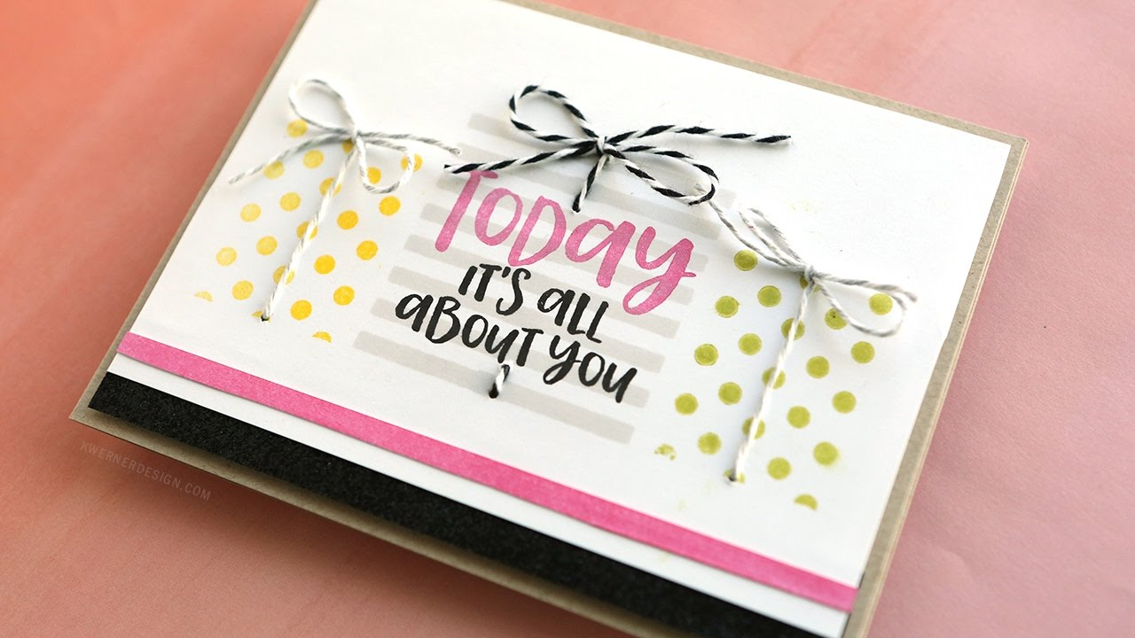 Stamped Pattern Gift Boxes Birthday Card